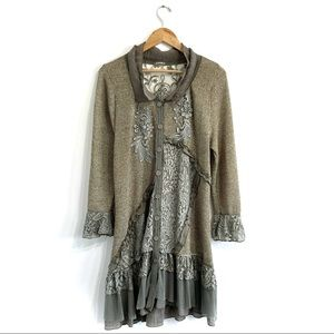 Pretty Angel cardigan duster floral lace crochet